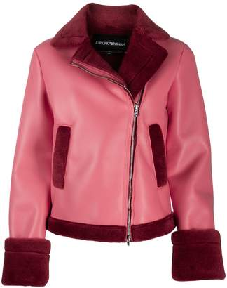 Emporio Armani shearling lined jacket