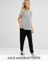 Asos Maternity Petite Jersey Peg Trouser With Draw Cord Waist