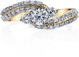 Sirena Womens 1 CT. T.W. Genuine Round White Diamond 14K Gold Engagement Ring
