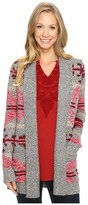 Lucky Brand Intarsia Sweater Coat
