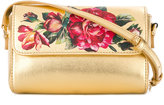 Dolce & Gabbana floral print shoulder bag - kids - Calf Leather - One Size