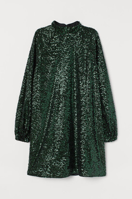 H&M Sequined Dress - Green