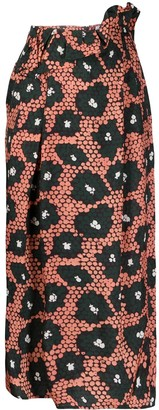 Christian Wijnants Daisy Print High-Waisted Skirt