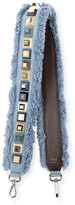 Fendi Strap You Studded Denim Shoulder Strap for Handbag, Denim/Multi