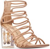 Katy Perry Janelle Seashell Lucite Block-Heel Sandals