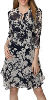 Donna Morgan Floral Printed A-Line Dress