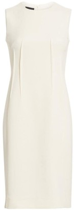 Akris Sleeveless Wool Crepe Darted Sheath Dress