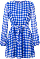 Diane von Furstenberg gingham print cinched waist dress - women - Silk/Polyester - 0