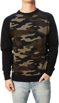 Retrofit Men' Longleeve Crew Neck Pullover Jungle Camoweater-mall