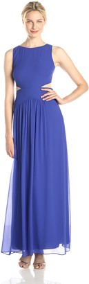 Nicole Miller Women's Queen of The Night Cut Out Gown