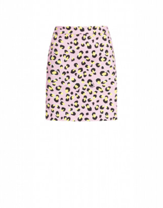 Love Moschino Stretch Gabardine Mini Skirt Leo Woman Pink Size 38 It - (4 Us)