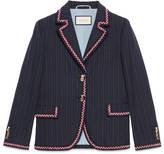 Gucci Cotton wool stripe jacket