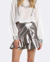 Coco Ribbon Leather Skirt