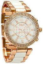MC M&c Ferretti Women's | Stones Rose Gold Acetate Dial Midi Watch | FT14401