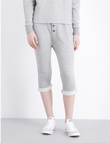 James Perse Slouchy college stretch-cotton jogging bottoms