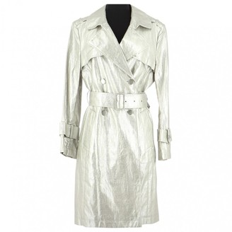 Georges Rech Grey Linen Trench Coat for Women