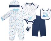 Cutie Pie Baby Blue & Navy Dinosaur Footie Set - Infant