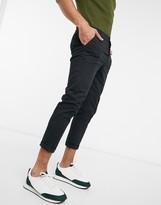 Asos Design DESIGN co-ord super skinny cropped chinos in black