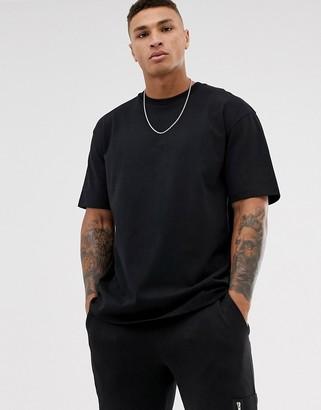 Topman oversized t-shirt in black