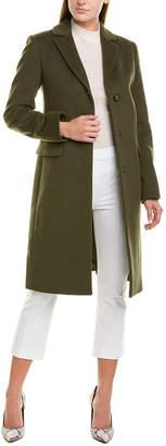 Cinzia Rocca Icons Notch Lapel Wool & Cashmere-Blend Coat