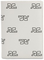 Courreges MONOGRAM PRINT TECHNO PASSPORT HOLDER