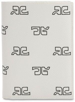Courreges Monogram Print Techno Passport Holder