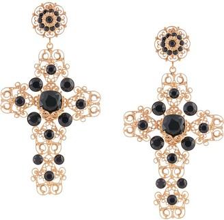 Dolce & Gabbana Embellished Drop Clip-On Earrings