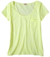 Mossimo Juniors Scoop Neck Pocket Tee - Assorted Colors