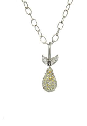 Cathy Waterman Diamond Pear Charm - Platinum