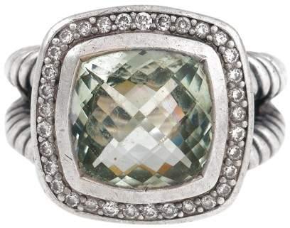 David Yurman David Yurmam Prasiolite and 0.22ct Diamond Albion Ring Size 6
