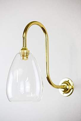Glow Lighting JCGWL120 Jules Wall Ceiling Light, Glass, Brass Fixings