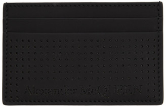 Alexander McQueen Black Perforated Card Holder