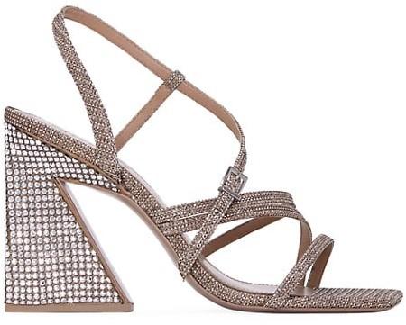 Mercedes Castillo Kelise Crystal-Embellished Sandals