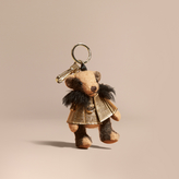 Burberry Thomas Bear Charm in Metallic Cape
