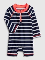 Gap Baby Stripe Rash Guard One-Piece