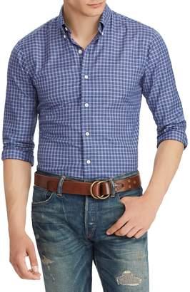 Ralph Lauren Plaid Cotton Twill Long Sleeve Shirt