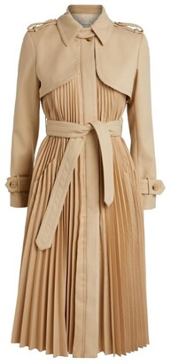 Sandro Pleat Trench Coat