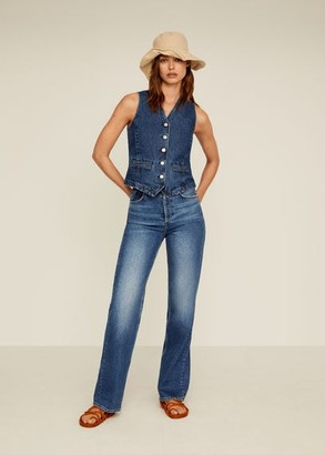 MANGO Wide leg high waist jeans