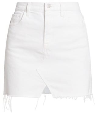 J Brand Jules Raw Hem High-Rise Denim Skirt