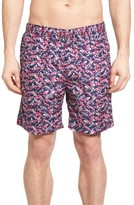 Peter Millar Men's Koi Pond Print Swim Trunks