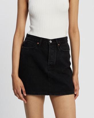 Camilla And Marc Women's Black Denim skirts - Freida Skirt - Size 6 at The Iconic
