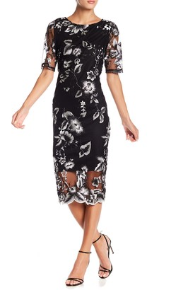 Marina Floral Embroidered Midi Dress