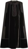 Roland Mouret Keaats velvet-panelled cape