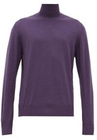 Connolly - Roll-neck Merino-wool Sweater - Mens - Purple
