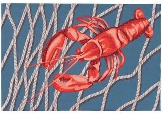 Liora Manné Illusions Lobster Net Indoor/Outdoor Mat Navy