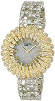 Burgi Women's BUR054YG Dazzling Crystal Quartz Bracelet Watch