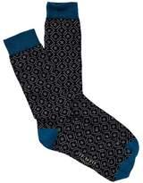 Ted Baker Geo Pattern Crew Socks