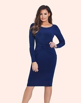 Jessica Wright Ruched Long Sleeve Bodycon Dress
