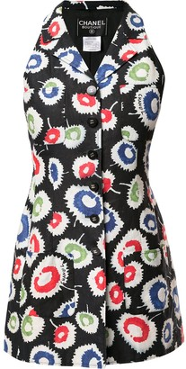 Chanel Pre Owned Floral Print Blouse