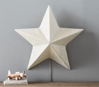 Pottery Barn Kids Paper Mache Light Up Star